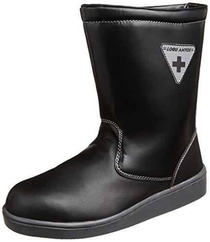 [コーコス信岡] 安全作業靴 舗装職人 先芯入り ブーツタイプ 半長靴 ログアントス ZA-837 メンズ ブラック 28.0(28cm)