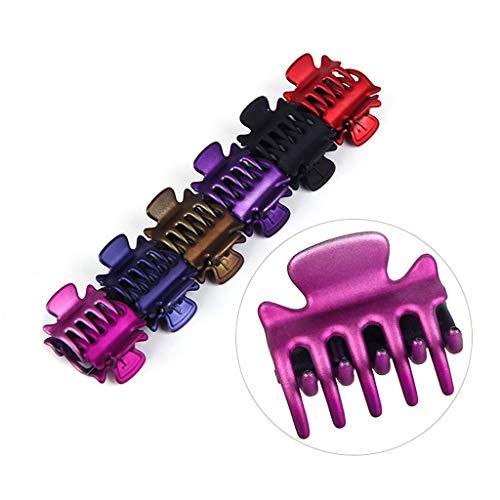Yanhonin 12pcs Mini Agrafe De Cheveux De Crabe, Mini Pince De Mâchoire En épingle à Cheveux Colorée En Plastique, Forte Force De Morsure Barrette