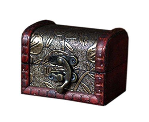 Créatif millésime caisson à bijoux en bois de cas cosmétique