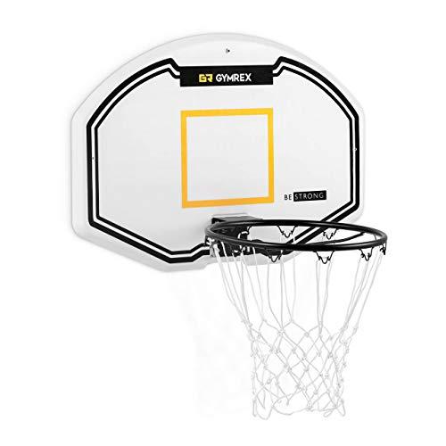 Gymrex Canasta de Baloncesto Tablero con Montaje a Pared GR-MG41 (Tablero: 91 x 61 x 2,7 cm, Aro: Ø 42,5 cm, Resistente a la Intemperie)