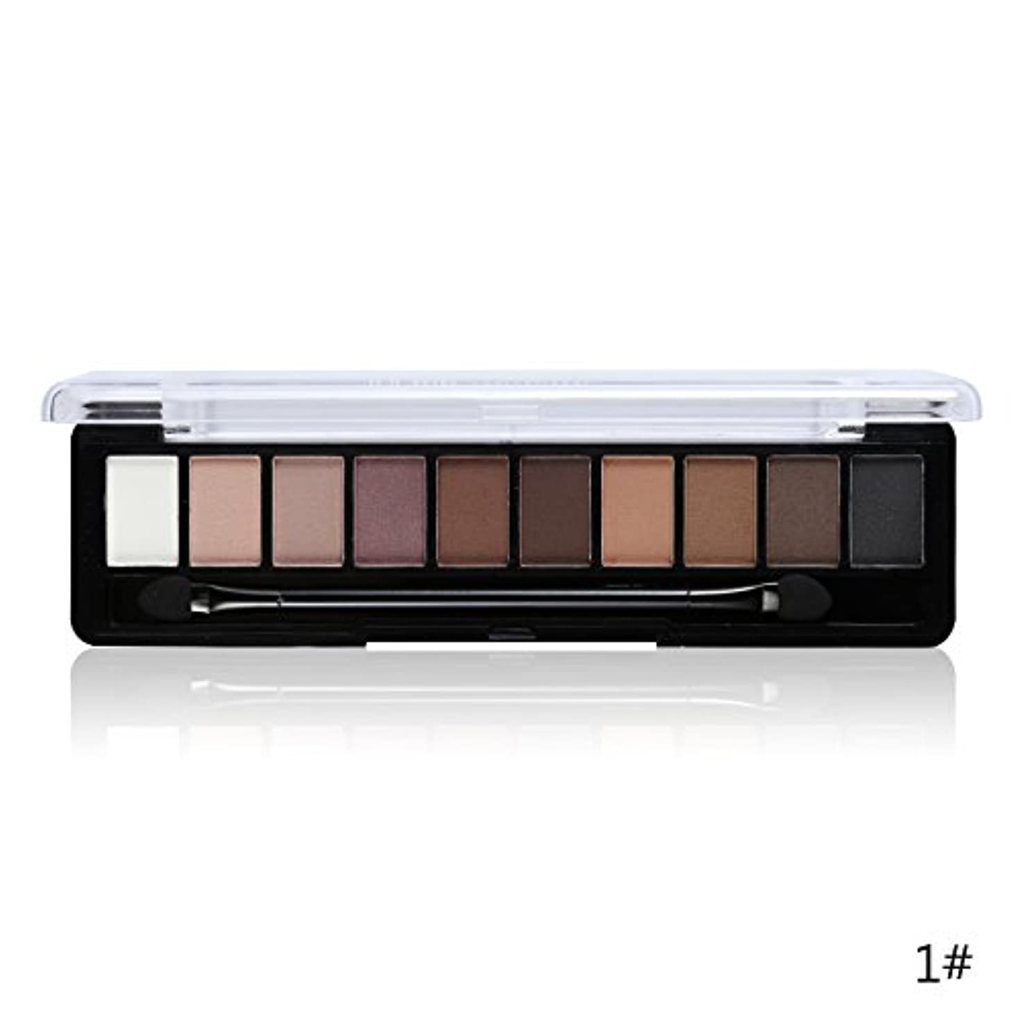 近々未知のスティーブンソン(1#) Professional Makeup Brand Earth Color 10 Colors Eyeshadow Palette Glitter Eye Palette Maquiagem Matte Silky Pigments Eye Shadow