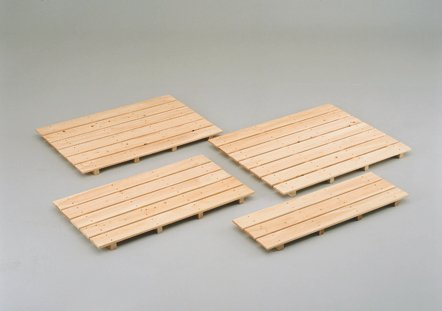 国産ひのき 木製 風呂すのこ 4本足 8枚巾