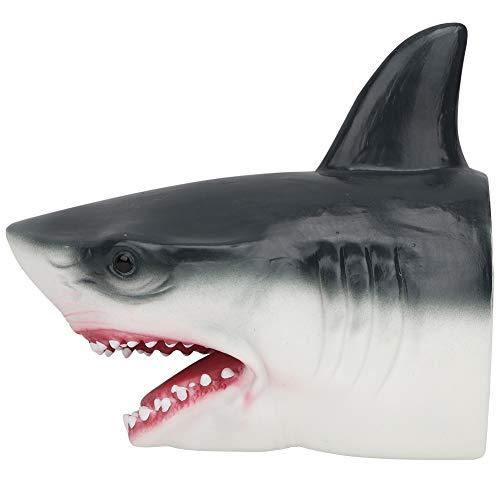 Tnfeeon 7 Zoll Realistische Tierhandpuppen Hai Handschuhe Weichgummi Kopf Hand Shark Spielzeug Kinder Spaß Spielzeug