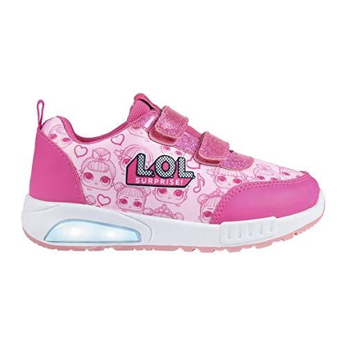 Cerdá Deportiva Luces LOL, Zapatillas sin Cordones para Niñas, Rosa (Rosa C07), 35 EU