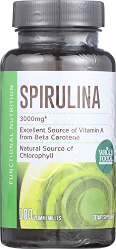 Whole Foods Market, Spirulina 3000mg, 100 ct