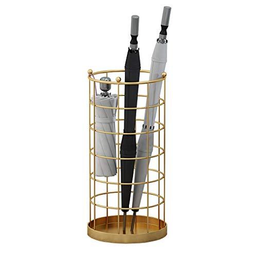 Porte-parapluies en Fer Forgé Doré, Mode Et Créatif Accueil Hôtel Hall Umbrella Support De Rangement, avec Crochet, Stable Et Durable, 25x50cm
