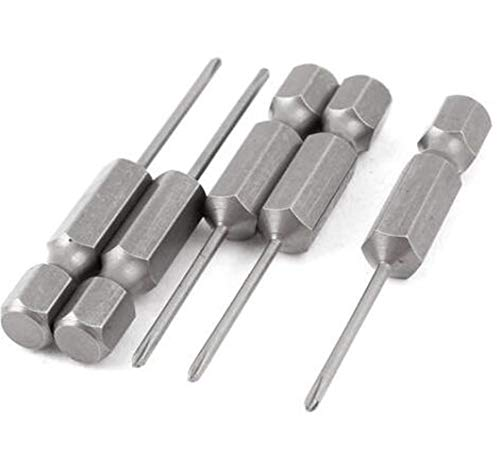 5 piezas 1/4 pulgadas vástago hexagonal 1,6 Mm PH000 punta de destornillador de cruz magnética Phillips 50 Mm