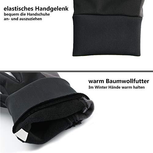 OZERO Touchscreen Winterhandschuhe, Thermo Fahrradhandschuhe & Laufhandschuhe für Herren und Damen - 5