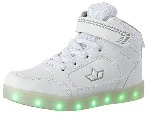 Lico Unisex-Kinder Disco HIGH Hohe Sneaker, Weiß (Weiss), 37 EU