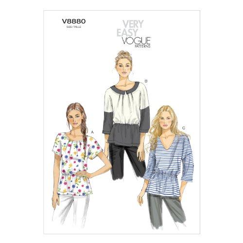 VOGUE PATTERNS V8880 - Patrones de Costura para Camisetas de Mujer (Tallas 42 a 50)