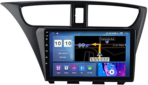 YIJIAREN Navigazione GPS Autoradio per Ho-nda Civic 2012-2017, Schermo tattile 2.5D Android 10.0 Autoradio Stereo Supporta Il Controllo del Volante BT FM Mirror-Link 4G WiFi