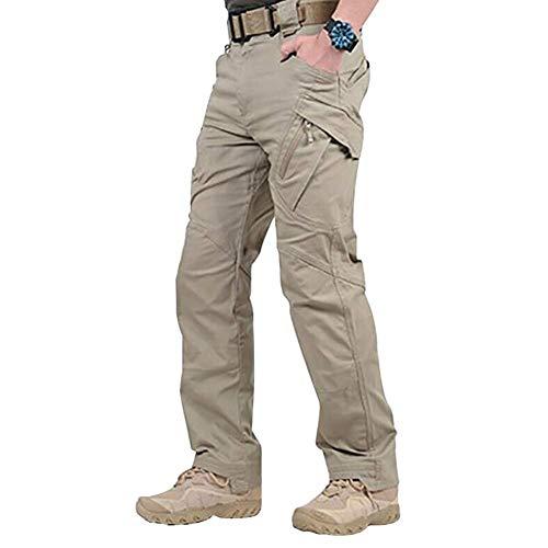 eamqrkt Pantalones largos de trabajo impermeables con bolsillos sueltos