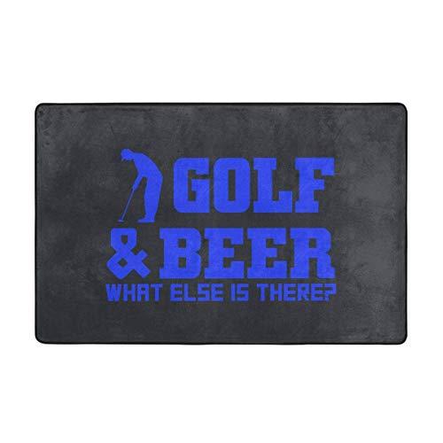 Alfombras de área, Golf y Cerveza Alfombras Antideslizantes para el Piso Alfombra para decoración del hogar Alfombra 60 'X 39' para Sala de Estar y Sala de Juegos