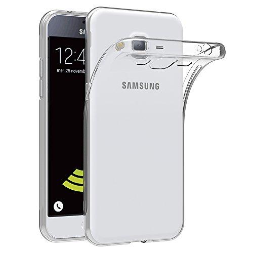 AICEK Samsung Galaxy J3 2016 Hülle Case, Galaxy J3 2016 Case Silikon Soft TPU Crystal Clear Premium Durchsichtig Handyhülle Schutzhülle Case Backcover Bumper Slimcase für Galaxy J3 2016