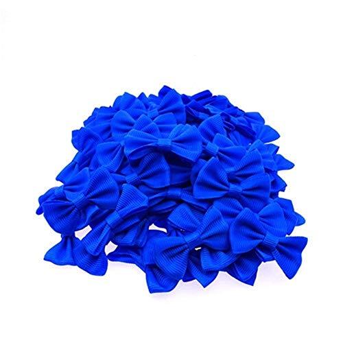 YUNGYE 90-100 Pcs/lot Mini Petit Ruban Animaux Bowknot Craft Bow Bricolage Bow Tie Mariage Décor Accessoires Cheveux (Color : Royal Blue)