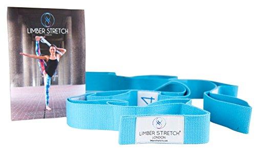 Limber Stretch Flessity Strap con passanti per allenamento e guarigione. Yoga Strap e fascia fitness (lingua italiana non garantita)