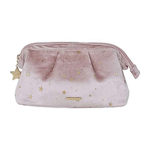 N/C Bolsa de cosméticos portátil de terciopelo maquillaje bolsa de almacenamiento organizador suave chica lápiz labial bolsa mujer aseo belleza caso bolsa