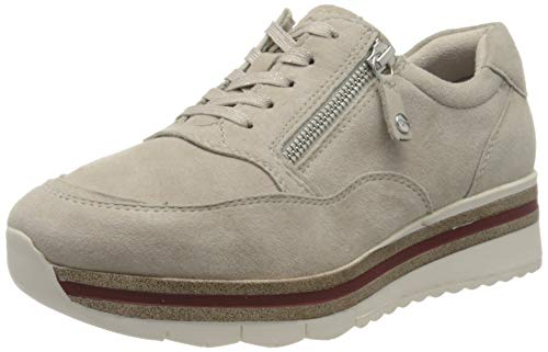 Tamaris Damen 1-1-23707-24 Sneaker, Beige (Cashmere Suede 422), 36 EU