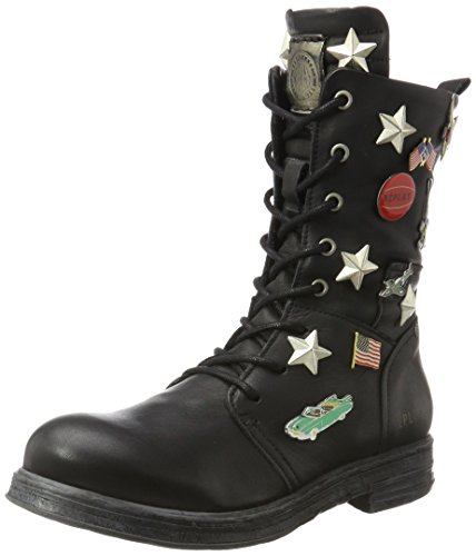 Replay Damen WITT Biker Boots, Schwarz (Black), 36 EU