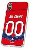 MYCASEFC Coque Football Personnalisable Lille LG V30 en Silicone. Housse de Foot pour Smartphone...