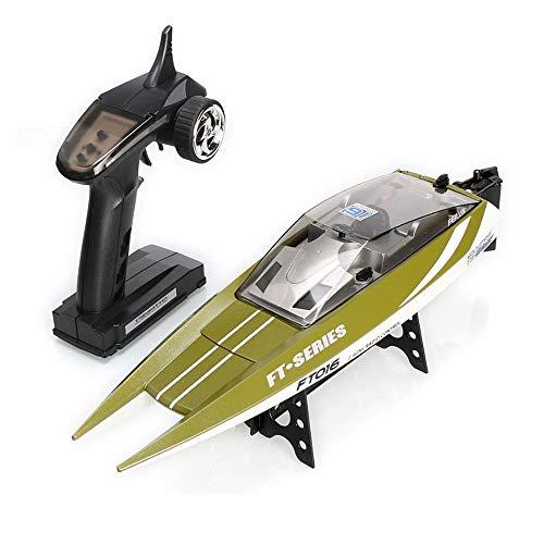 MUZoo Speedboat Water High-Speed Reversible Wasser Kühlsystem in über Fernbedienung Speedboat 4-Kanal 2,4 GHz Professionell Wireless Control Speedboat RC Yacht Geschenk