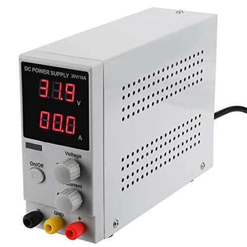 Fuentes de alimentacion de Digital Ajustable DC 0-30V / 0-10A Digital Ajustable,Fuente de alimentación de modo conmutado para laboratorio, reparación general,hogar(200-240V EU)