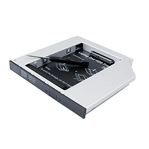 Segundo HDD SSD Caddy unidad de disco duro óptico para portátil Alienware...