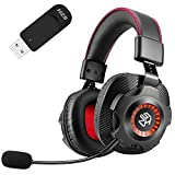 SZH Wireless Gaming Headset for PC, PS4, PS5 2.4G Wireless Function 7.1 Surround Sound with...