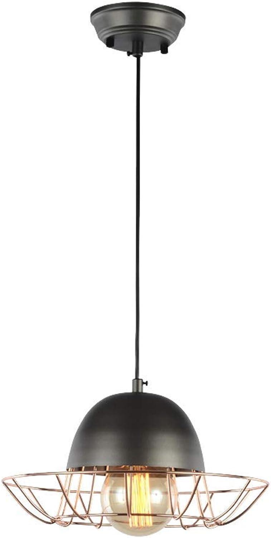 Lustre en fer, lampe à suspension moderne simple à LED Creative LOFT pendentif lumièreindustrial vent lustre plafonnier (Couleur   C)