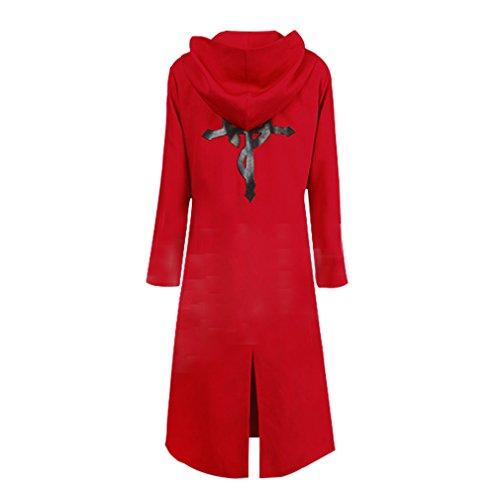 YMCC Fullmetal Alchemist Halloween Costume Edward Elric Cosplay Red Coat(L, Red)