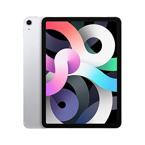 2020 Apple iPadAir with A14 Bionic chip (10.9-inch/27.69 cm, Wi-Fi + Cellular, 64GB) – Silver (4th Generation)