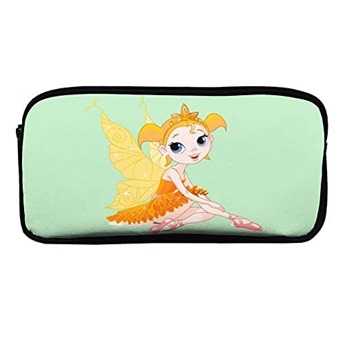Moden - Estuche de papelería YHO Design Dance Shoes Butterfly Elfos Comics Magic,Estuche para la escuela, estuche para niños y niñas