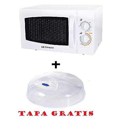 Microondas Orbegozo MIG 2322, 23 L, 5 Niveles, 800 W, Blanco + tapa para micro gratis