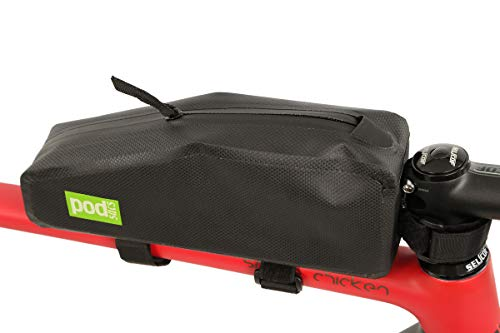 PODSACS Bike Frame Bags Svelte Large Top Tube Bag With Inner Foam Padding