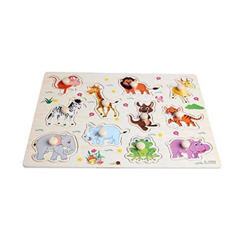 Houten baby kinderen dieren puzzel vroeg leren dieren puzzel, houten dieren puzzel, leren puzzel speelgoed educatieve plaat