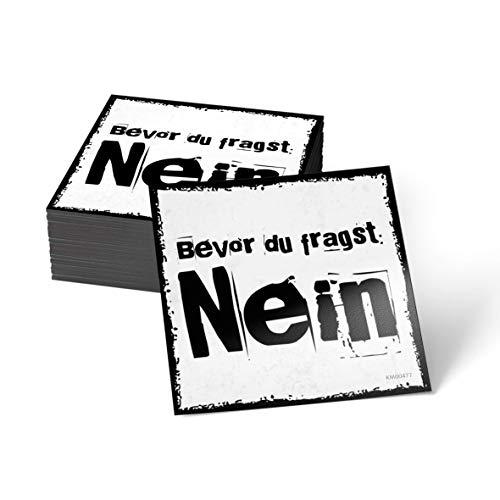 how about tee Bevor Du fragst: Nein - Kühlschrank- / Whiteboard-Magnet