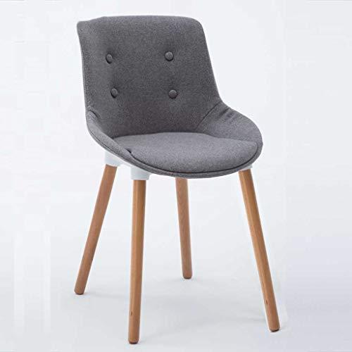LINGZHIGAN Chaise dinant la chaise de bureau à la maison de bureau de bureau de dossier de tissu minimaliste moderne (Couleur : B)