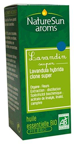 NatureSun Aroms Huile Essentielle Lavandin Super (Lavandula hybrida clone super) Bio Format Economique 30 ml