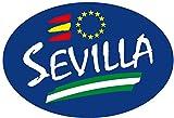 Artimagen Pegatina Oval Azul Sevilla 80x60 mm.