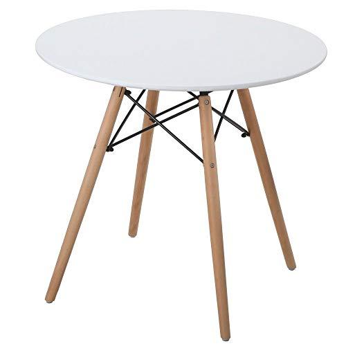 OUTLETISSIMO® Tavolo Design Struttura in Legno e Resina Alta qualità 80X73CM