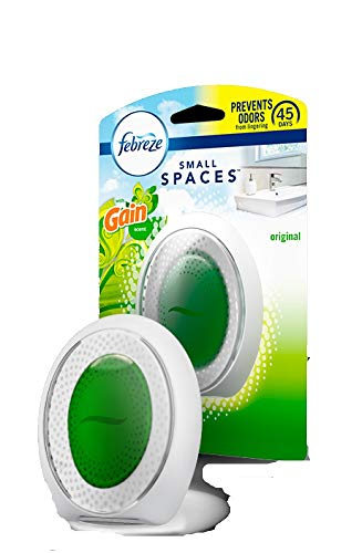 Febreze Air Freshener, Small Spaces Air Freshener, Starter Kit and Refills Value Pack, Gain Scent Freshener, 0.18 oz, Pack of 3