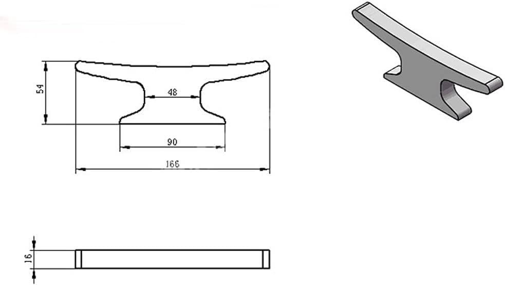 BUSUANZ 1 Set Boat OFFicial Open Base Cleat OFFicial Dock Line Cl Marine Desk Rope