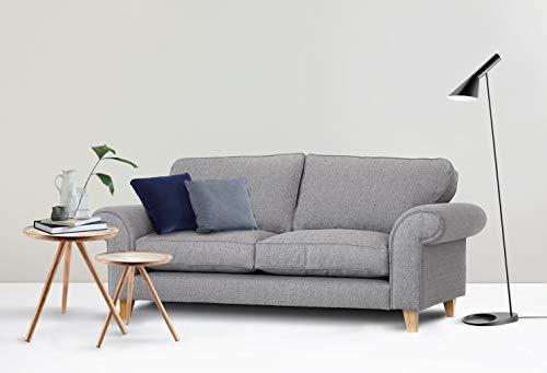 Abakus Direct Angie 3-Sitzer-Sofa, 2-Sitzer-Sofa, Sessel oder Liebessitz, Kuschelstuhl, Hellgrau, hellgrau, 2-Sitzer