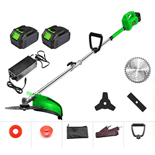 Best Bargain SWTY Portable Grass Trimmer Electric, 1500W Motor/Copper Motor/Retractable / 48V4ah Lit...