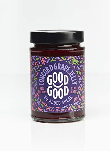 Concord Grape Jelly by Good Good - 12 oz   330 g - Keto Friendly No Added Sugar Concord Grape Jelly - Keto - Vegan - Gluten Free - Diabetic (Concord Grape)