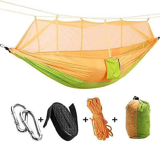 HCHD Hamac Parachute Ultraléger, Chasse Moustiquaire Double Camping Loisirs Mobilier Extérieur Hamac (Couleur   G)