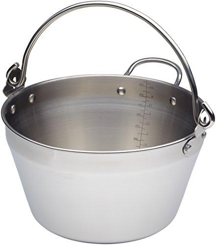 Küchenhandwerk KCHMMINIMASLIN Maslin Jam Pan für Induktions-HOB, Edelstahl, Silber, 20 cm