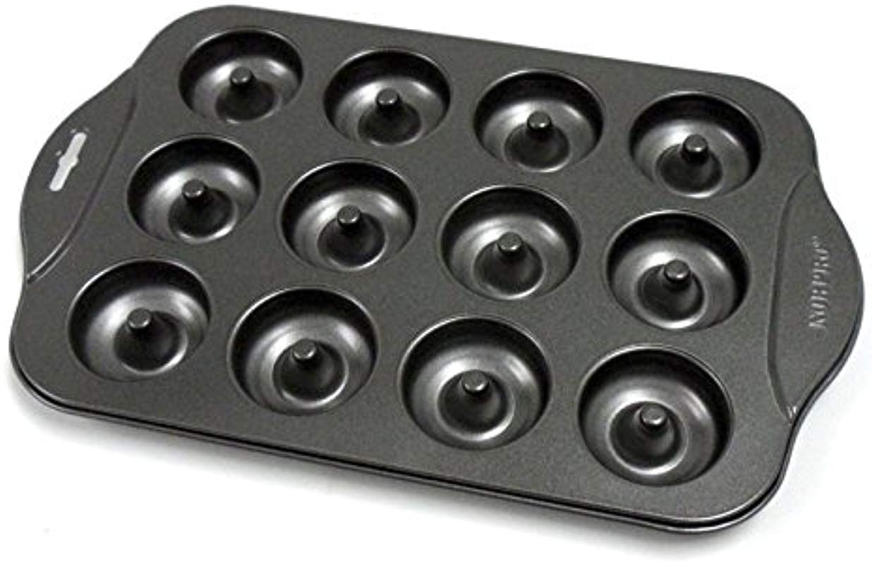 Mini Donut Baking Pan Professional Nonstick Oven Maker Donut Pan 12