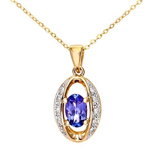 Naava Damen-Halskette 9 Karat 46 cm Halskette375 Gelbgold PP03033Y Tanz