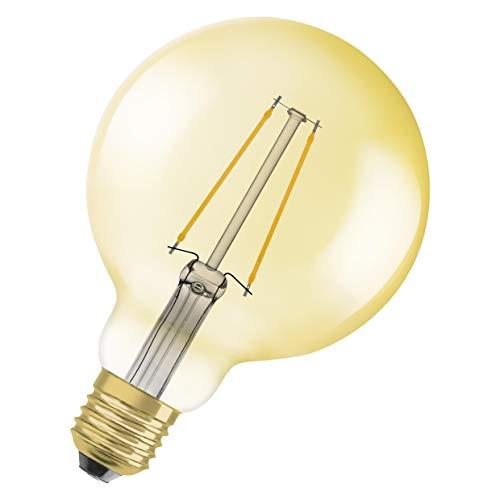 OSRAM Vintage Edition 1906 Ampoule LED à Filament   Culot E27   Forme Globe 95mm Or Ambrée   Blanc Chaud 2400K   4,5W (équivalent 36W)
